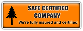Safe Certified Company | We're fully insured and certified for your peace of mind.