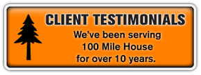 Client Testimonials | We've been serving 100 Mile House for over 10 years; read what people are saying.